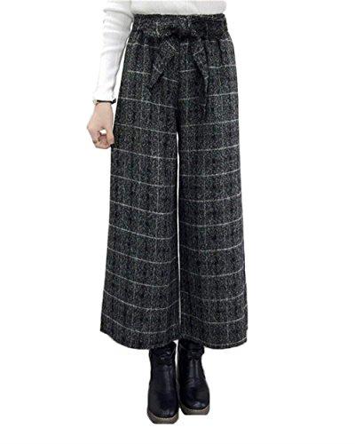 High Waist Cintura Pantaloni Palazzo Autunno Tempo Gamba Fashion Libero Accogliente Rauchfarben Pantaloni Pantaloni Eleganti Donna Colori di Per Mode Pantaloni marca Inclusa Sciolto Invernali Donna Solidi Larga XwdXqxSIr