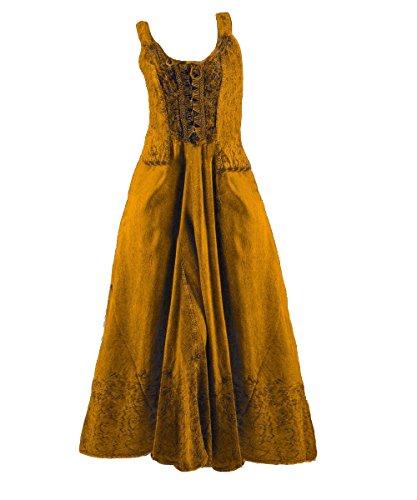 lang Gothic Dark Pagan Mittelalter 38 rost Kleid Ethno Samt 40 Schnürung Alina Farbe Dreams xx1rqw5F