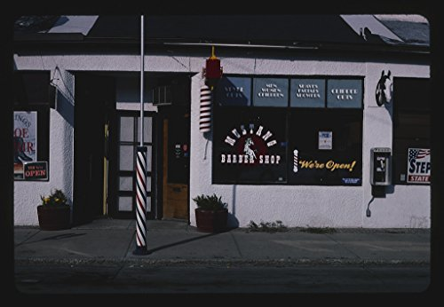 2004 Mustang Pictures - Vintography 16 x 24 Photo of Mustang Barber Shop, Billings, Montana 2004 Ready to Frame 19a