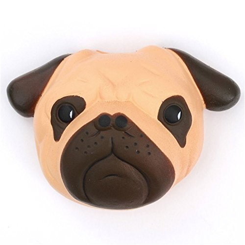 Omaky Kawaii Jumbo Slow Rising Squishies Pug Dog Cream Scented Squeeze Kid Toy Phone Charm Gift for Stress Relief