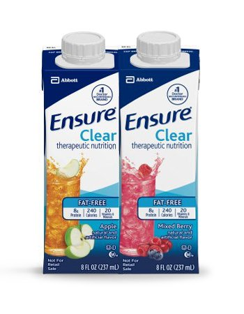Ensure Clear 16 x Apple, 8 Ounce and 16 x Mixed Berry, 8 Ounce - 32 Total Combo Pack