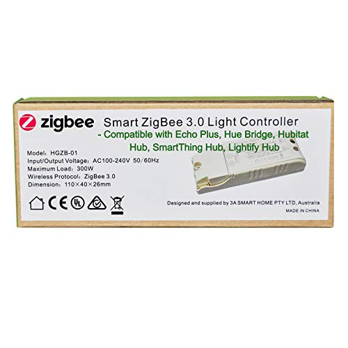 110-240V Smart ZigBee 3.0 Light Switch Controller Compatible with Echo Plus and Common Zigbee Bridge Hub to Control Normal Lights, Home Automation and Voice Control (Best Home Automation Controller 2019)