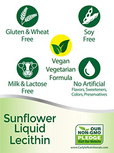Carlyle Sunflower Liquid Lecithin 16 oz Oil 2pack | Soy Free, Vegetarian, Non-GMO, and Gluten Free | Food Grade by Carlyle (Image #3)