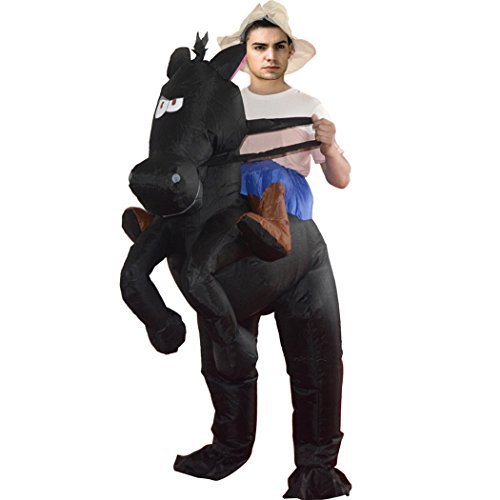 Inflatable Costume Cosplay Halloween Costume Piggyback Ride On Riding Shoulder Costumes Fancy Dress Costume Novelty Funny Inflatable Suit For Adult/Child (Black Swift (Black Inflatable Adult Costumes)