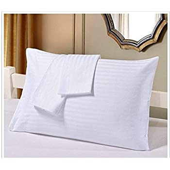 aarohi homes Travel Pillowcase 500 Thread Count 100/% Egyptian Cotton Set of 2 Toddler Pillowcase Pillow Cover with Zipper Closer Dark Grey Solid, 12x16