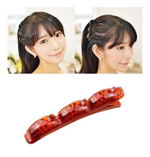 Price comparison product image iHome Fusion Double Layer Hair Clip Triple Layer Hair Clip Hair Twist Braid Accessories Styling Tool (Brown)