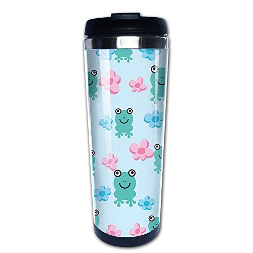 Safari Wallpaper Cut Out (Visgvs Travel Mugs Lovely Frog Stainless Steel 400ml Coffee Mugs)