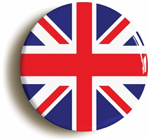 (Union Jack British Flag Mod Sixties Button Pin (Size 1inch Diameter))