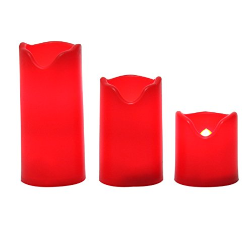 battery candles with timers red - 5