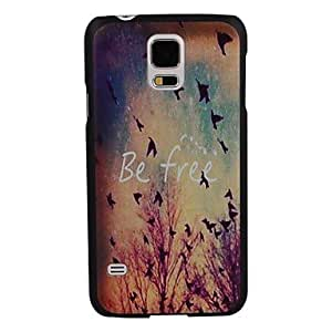 Mini - Elonbo J10Z The Birds Fly Freely in The Sky Design Style Hard Back Case Cover for Samsung Galaxy S5 I9600