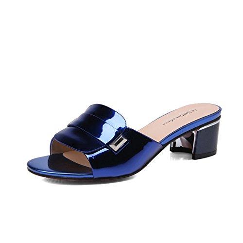 Áspero con verano pantuflas de moda/Boca de boca de pescado arrastrado sandalias A