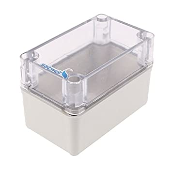 eDealMax 130 x 80 x 85 mm cubierta transparente impermeable Box Junction Terminal Box Enclosure
