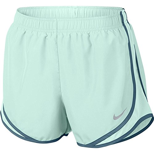 NIKE Womens Moisture Wicking Colorblock Shorts Igloo/Igloo/Armory Blue/Wolf Grey