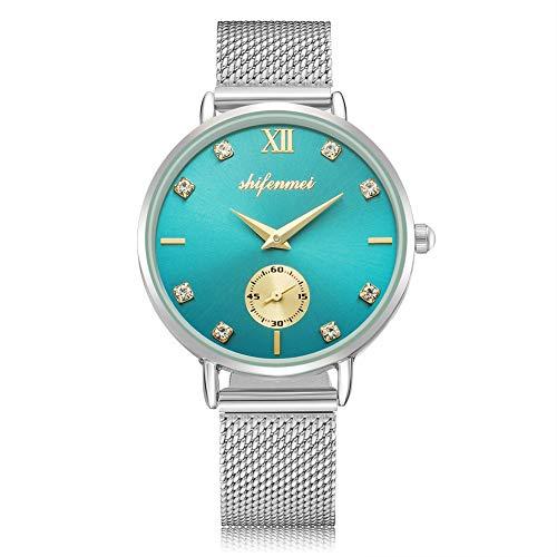 Womens Watches, shifenmei Ladies Watches Ultra Thin Waterproof Analog Quartz Simple Design Rhinestones Watches for Women…