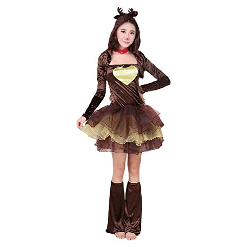 Halloween Christmas Girls Reindeer Costume Girls Tutu Dress Girls Reindeer Costume
