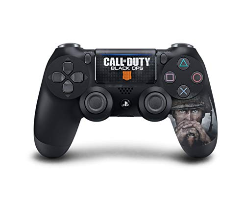 PS4 DualShock Wireless Controller Pro Console - Newest PlayStation4 Controller with Soft Grip & Exclusive Customized Version Skin (PS4-Call of Duty) (1 - Pack) (Call Of Duty Game Newest)