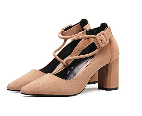 Inconnu 1TO9 Mmsg00123, Sandales Compensées Femme Kaki
