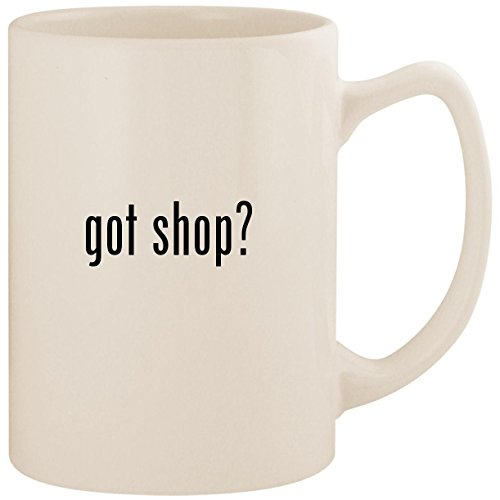got shop? - White 14oz Ceramic Statesman Coffee Mug Cup