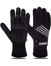 Grebarley Fietshandschoenen, antislip MTB-handschoenen met schokdempend pad, warme winterhandschoenen voor skiën, fietsen, hardlopen en rijden, waterbestendig, winddicht, verstelbaar en flexibel voor mannen/vrouwen