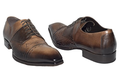 8eace8242467 Jo Ghost 2056 M Italian Mens Brown/Cognac Lace up Shoes - Import ...