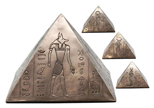 Ky & Co YK Ancient Egyptian Gods and Deities Pyramid Cremation URN Figurine Funeral Supply