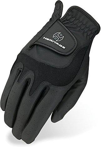 Heritage Elite Show Gloves, Size 7, Black