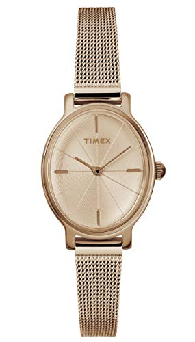 Timex Womens Analogue Classic Quartz Watch with Stainless Steel Strap TW2R94300