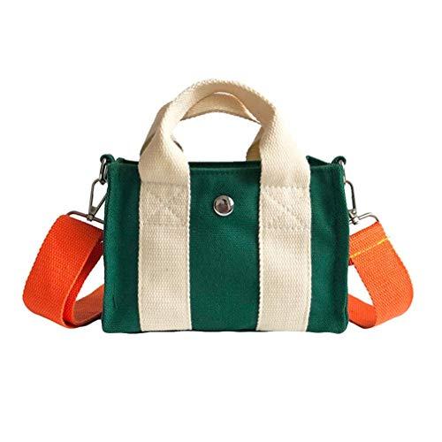 (Crossbody Bags for Women,iOPQO Fashion Patchwork Flap Canvas Handbag Tilt Bag)