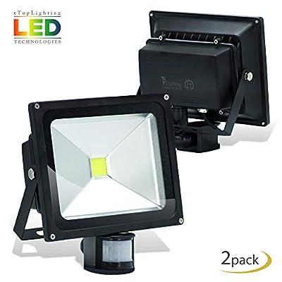  2-Pack 180° Rotation 50W LED Flood Light Outdoor IP65 Waterproof 30' Radius