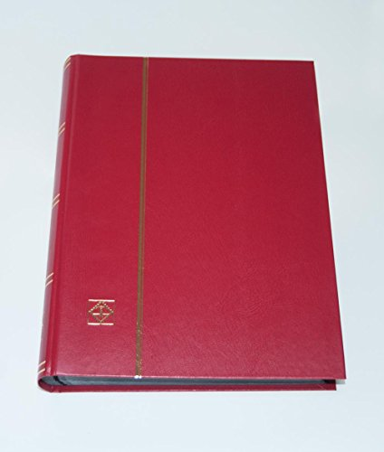 Lighthouse Hardcover Stamp Album Stockbook With 64 Black Pages, Red, LS4/32