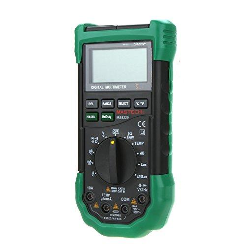 MASTECH MS8229 Auto Range LCD Backlight DMM Digital Multimeters w/ Noise Illumination (Dmm Digital Multimeter)