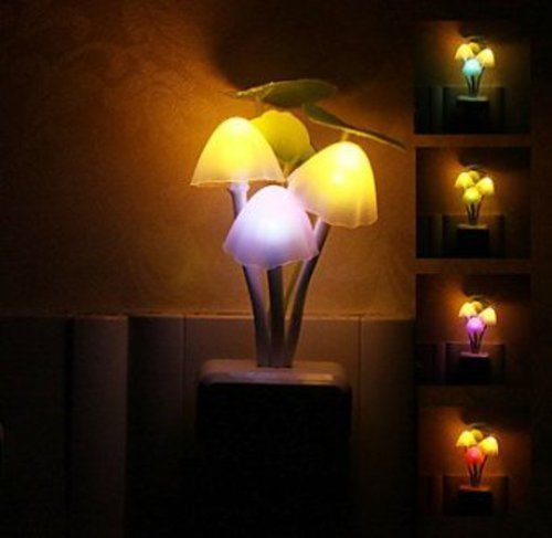 LED Night Light Mushroom Lamp by Baby Bits