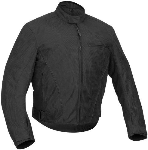 River Road Mens Yuma Mesh Motorcycle Jacket Black XXXXL 4XL