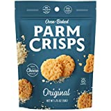 ParmCrisps 100% Cheese Crisps, Keto Friendly, Gluten Free (Original, 4 Pack)