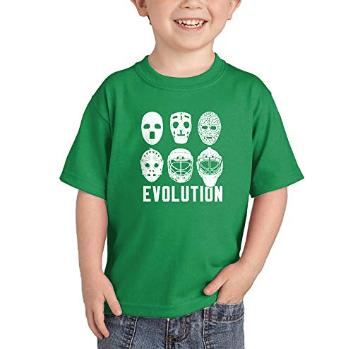 Evolution of Hockey Mask - Goalie Infant/Toddler Cotton Jersey T-Shirt (Kelly, 12 Months)