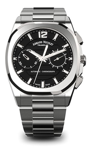 Armand Nicolet Men's J09 Collection A654AAA-NR-MA4650AA