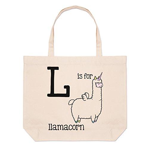 Big È L Per Spiaggia Bag Llamacorn Da Borsa Lettera S7zTIqxwa