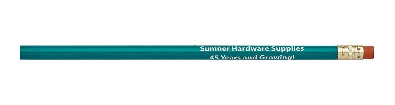 Pencil Guy Promotional Personalized Imprinted Round Pencils.-1000 per Box Teal