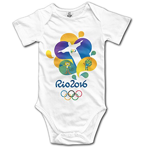 Price comparison product image Olympics Games Boy's & Girl's The 2016 Rio De Janeiro White Short Sleeved Tee Size 18 Months