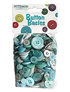 Buttons Galore Craft & Sewing Buttons - Winter Flurries - 5.5 oz.