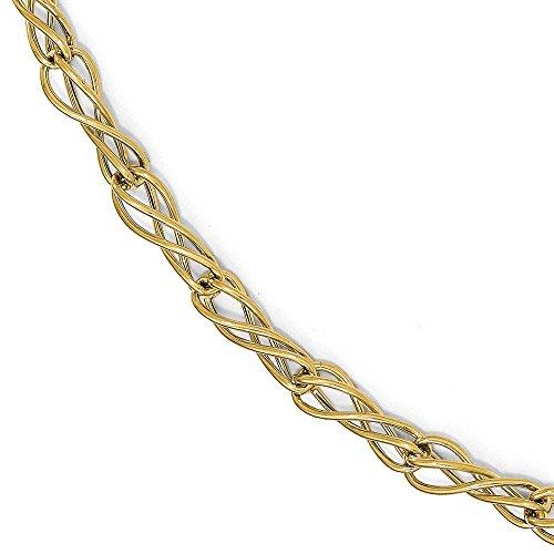 Poli 14 carats Bracelet fantaisie 7,5 cm-JewelryWeb