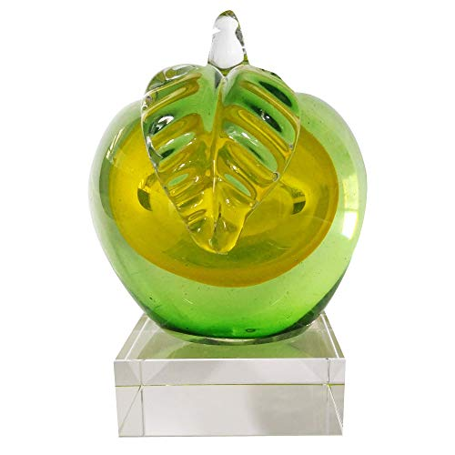 Kinetic Glass Beautiful Art Glass Green Apple Paperweights 89326
