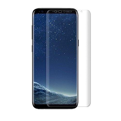 おとうさん命令有名人Galaxy S8 フィルム 全面 保護 docomo SC-02J au SCV36 ギャラクシーS8 エッジまで覆える フルタイプ スクラッチ防止 ケースに干渉しない フレックスモデル 3D Curved HD TPU Film 貼り直し可 クリア