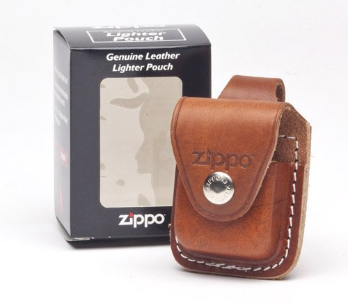 (Zippo Lighter Pouch with Loop, Brown)