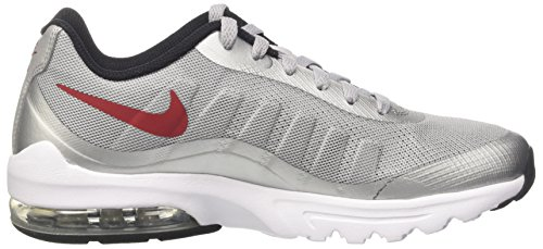 Nike Air Max Mens Chaussures De Course Dimpression Invigor Loup Gris / Rouge Varsity / Noir / Blanc