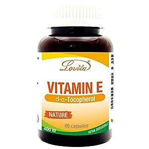 Lovita Vitamin E 400IU, D-Alpha tocopherol, 60 Capsules