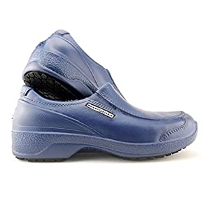 SMART ON GRIP Safety Toe Cap Shoes for Women – Non Slip Waterproof Professional Composite Toe Cap Shoes (9, Navy)