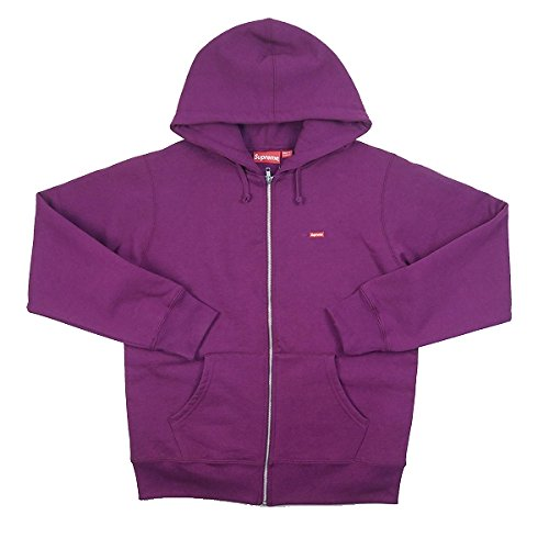 SUPREME シュプリーム 17AW Small Box Zip Up Sweatshirt ジップパーカー 紫 M 並行輸入品 B078RBJS7S