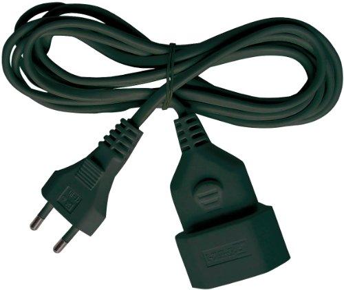 Brennenstuhl Kunststof verlengkabel (verlengkabel voor gebruik binnenshuis, 3 m kabel, met eurostekker en koppeling…