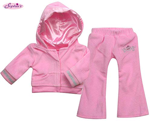(Sophia's Doll Clothing for 18 Inch Doll Clothes Outfit Play Set of Sweatsuit with Crown Details, 2 Pc. Set Fits American Girl Dolls & More! Stylish Doll Sweatsuit, My Doll's Life)